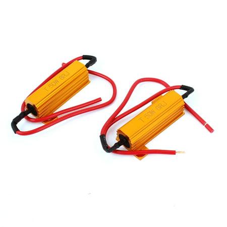 2Pcs Load Resistor 8RJ 50W 8ohm Fix LED Bulb Flash Turn Signal Blinker Light