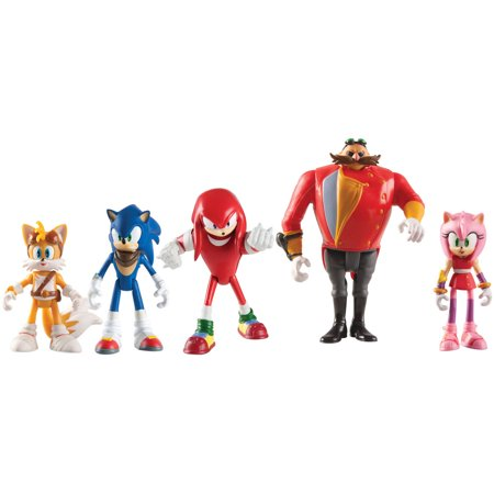 Sonic the Hedgehog Sonic Boom Multi-Figure Pack Action Figure Set, 5 Ct](Sonic The Hedgehog Girls)