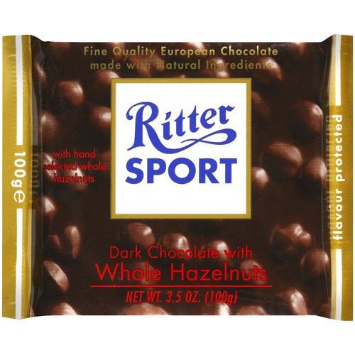 Ritter Sport Dark Chocolate With Whole Hazelnuts, 3.5 OZ (Pack of 3)