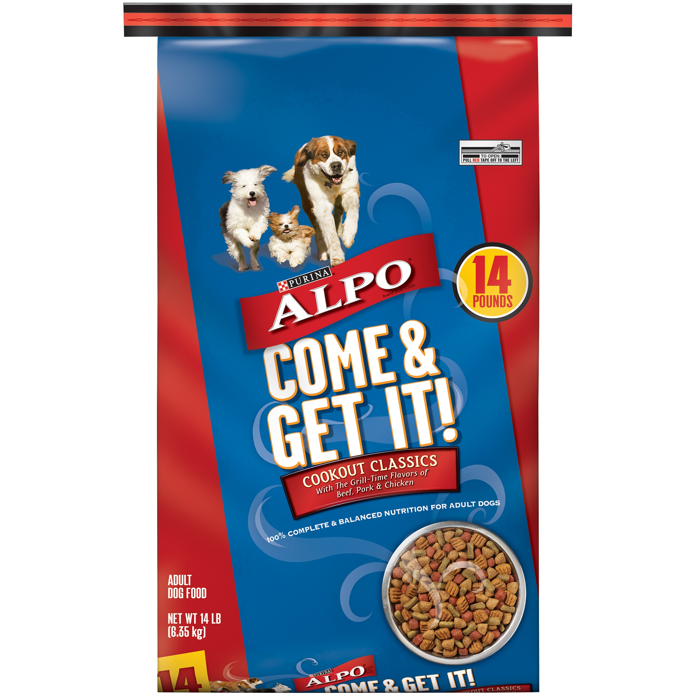 ALPO Come and Get It Come & Get It! Cookout Classics Dry Dog Food, 14 Lb.