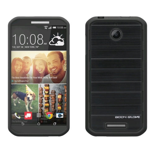 Body Glove Rise Case for HTC Desire 510 - Black Brushed Metal