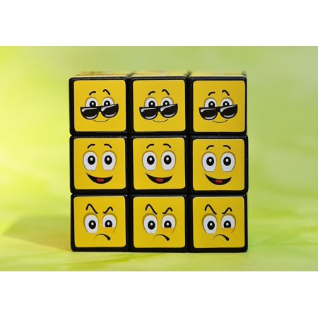 Halloween Smilies (Canvas Print Smilies Feelings Emoticon Cube Mood Funny Various Stretched Canvas 10 x)