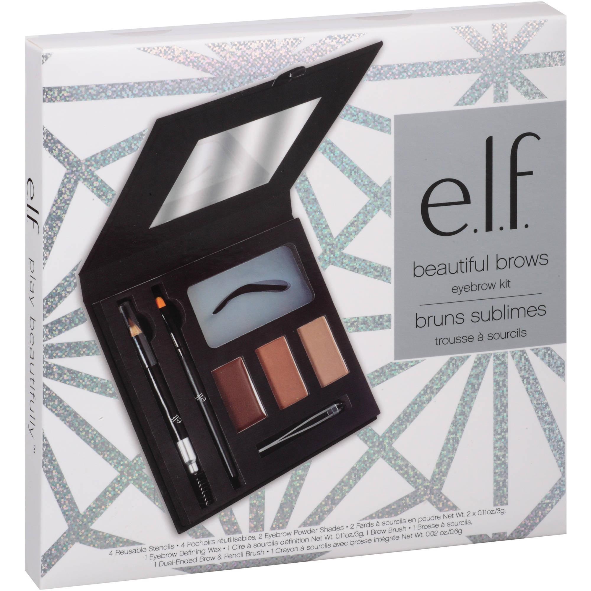 Elf Beautiful Brows Eyebrow Kit 10 Pc Walmart