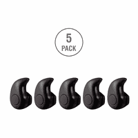 5 Units Professional Mini Invisible Wireless Bluetooth 10.0 Stereo In-Ear Headset Earphone Earbud Earpiece with Hands-free Calling and Microphone