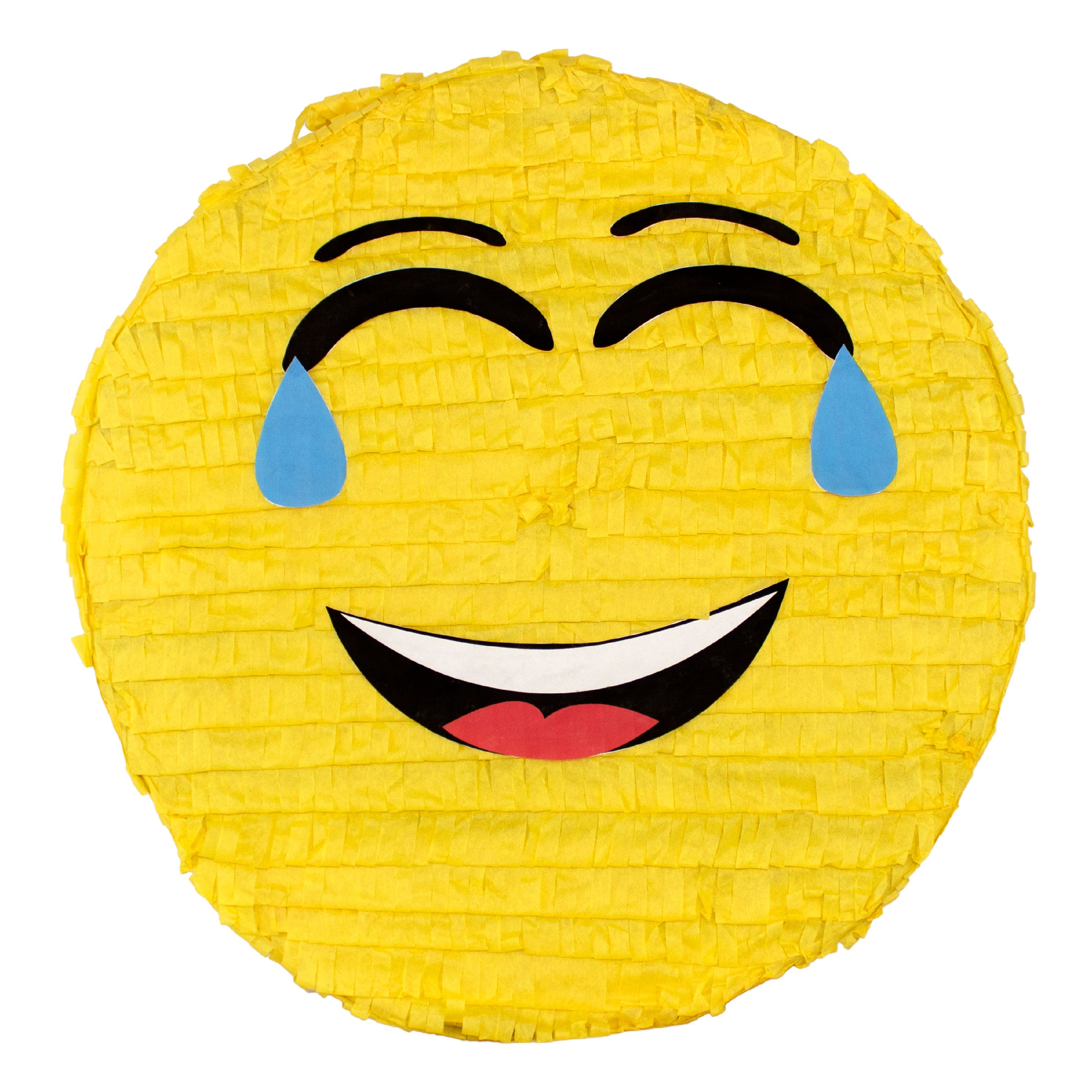(2 Pack) Laughing Emoji Party Pinata, Traditionally Handcrafted