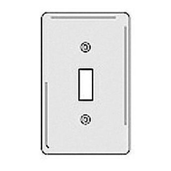 Hubbell NPJ1W White Nylon Mid-Size Single Gang Toggle Switch Wall Plate ()