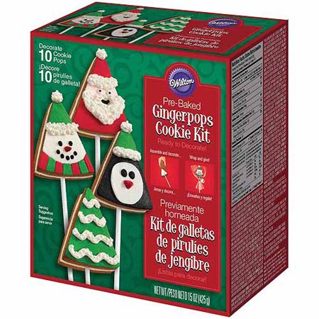 wilton pre baked cookie decorating kit gingerbread christmas 10 ct 2104 1912