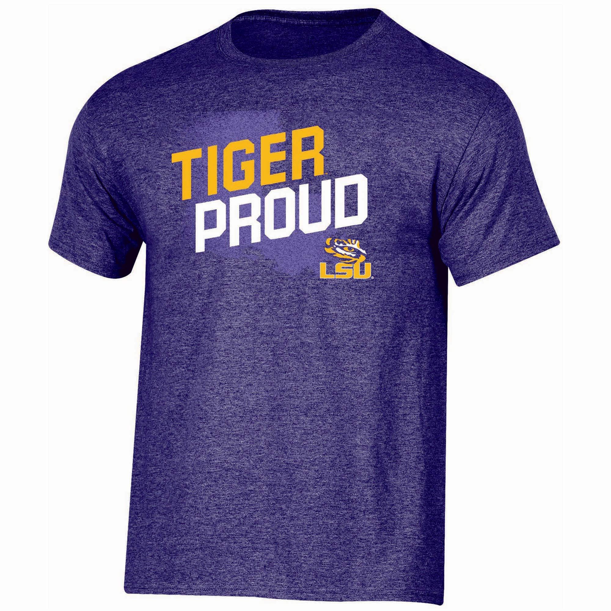 Men's Russell Purple LSU Tigers Slant T-Shirt