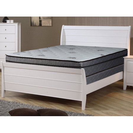 Continental Sleep, 13-inch Fully Assembled Innerspring Soft Mattress and 4