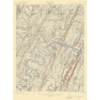 Paw Paw Maryland West Virginia Pennsylvania Quad - USGS 1898 - 17 x 22