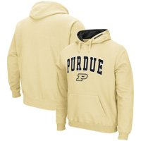 Purdue Boilermakers Colosseum Arch & Logo Tackle Twill Pullover Hoodie - Vegas Gold
