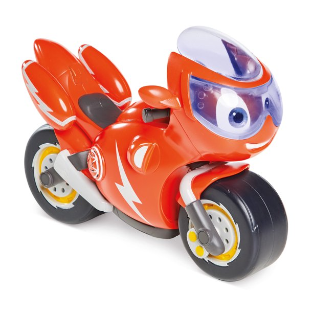 Ricky Zoom Lights & Sounds Ricky – Large 7 Inch Toy Motorcycle with 8 Sounds & Phrases Plus a Light Up Rescue Visor for Preschool Play