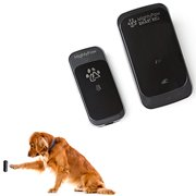 Mighty Paw Wireless Waterproof Doorbell with Touch Pad Sensor and Training Guide for Dogs (Black, 1 Transmitter)