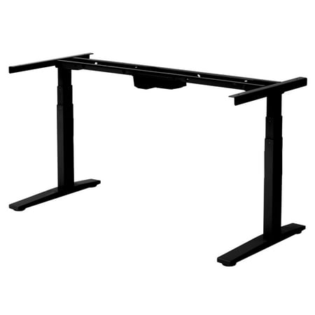 RISE UP Electric Adjustable Height Width Standing Desk Legs Frame Base. Ergonomic motorized sit to stand up home commercial office table. Dual 2 Motors. 4 Programmable Memory.