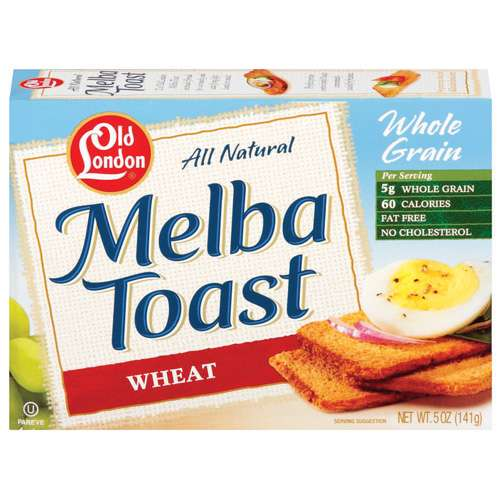Old London Melba Wheat Toast, 5 oz