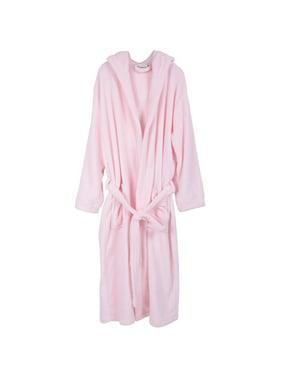 3e874713c1 Product Image Men s Coral Fleece Long Hooded Bathrobe Robe Dressing Gowns  Black