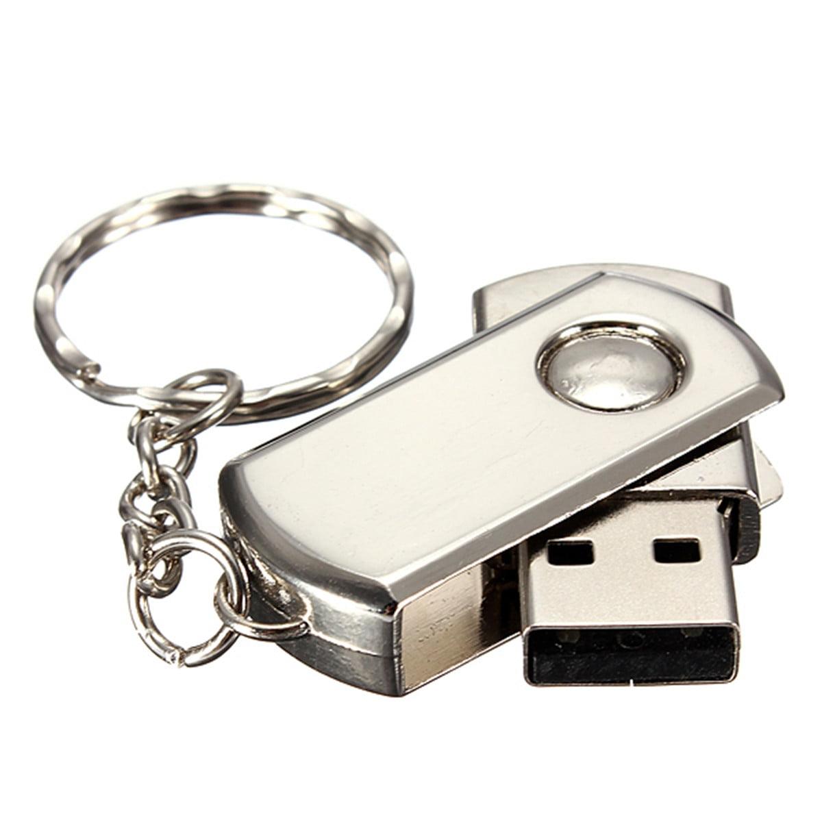 64GB USB 2.0 Silver Metal Swivel Flash Memory Stick Storage Thumb Pen Drive