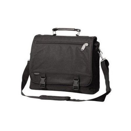 Everest  600 Denier Polyester Expandable Portfolio Briefcase with Soft Leather Handle Leather Drop Handle Briefcase