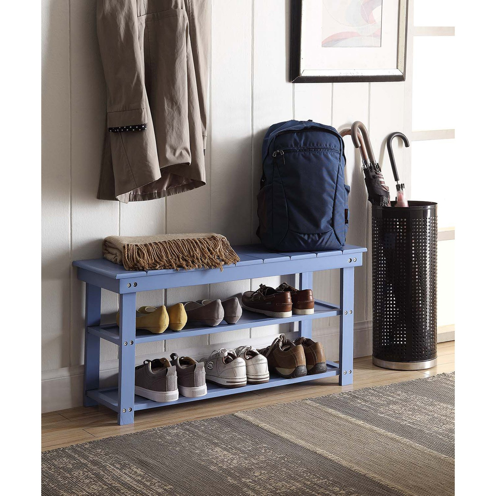 Convenience Concepts Oxford Utility Mudroom Bench, Mutliple Colors