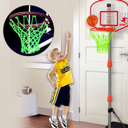 EEEkit Glow in The Dark  Basketball Net,Basketball Net Replacement,Basketball Hoop Net, Outdoor Basketball Net Rim Hoop ()