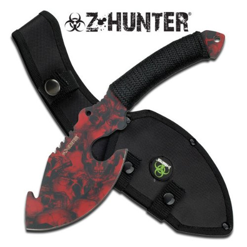 "Z-Hunter Cord Wrapped Handle 11"" Axe (RED SKULL CAMO) Multi-Colored"