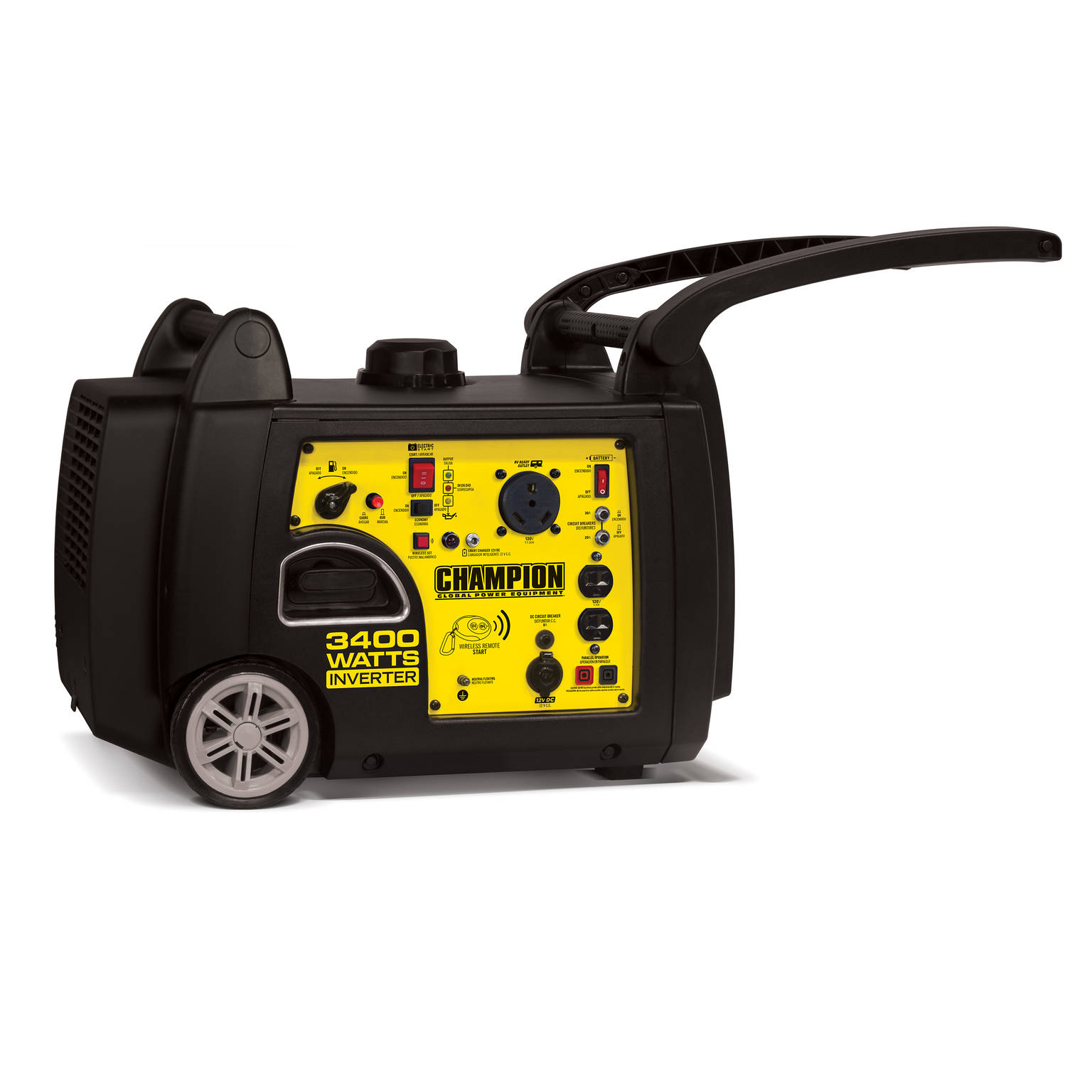 Champion 3400 Watt Rv Ready Portable Inverter Generator With Wireless Remote Start