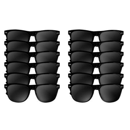 Black Sunglasses Bulk Wholesale Adult 12 PACK -1051D