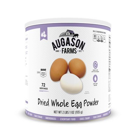 Augason Farms Dried Whole Egg Product 2 lbs 1 oz No. 10 Can ...