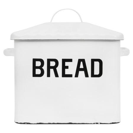 3R Studios White Decorative Bread Box
