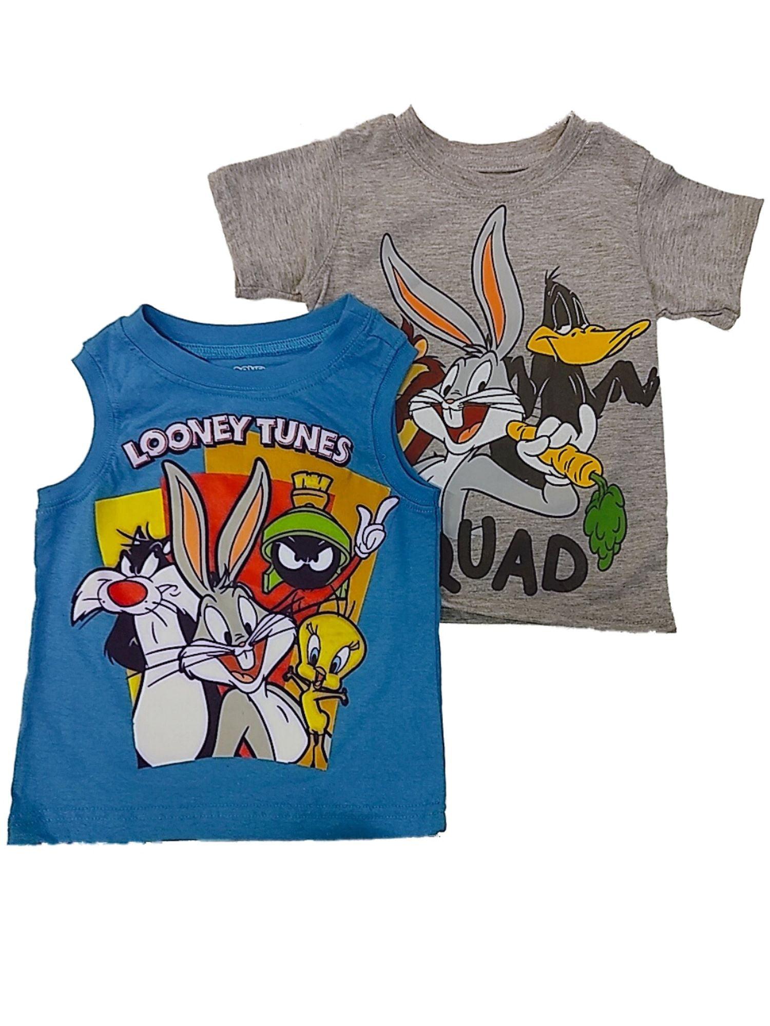 Officiel Kids Taz à manches courtes bleu//rouge Looney Tunes T-shirt En Coton Âge 2-8Y