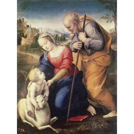 Holy Family With The Lamb Poster Print by Raphael
