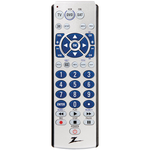 ZENITH ZB310 3-Device Universal Remote with Oversized Buttons