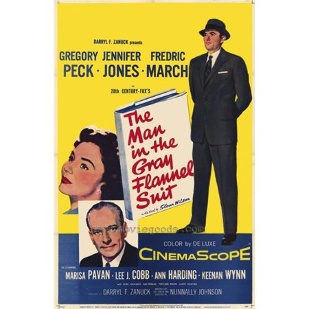 Posterazzi MOVIH4711 The Man in the Gray Flannel Suit Movie Poster - 27 x 40 (The Man In The Grey Flannel Suit)