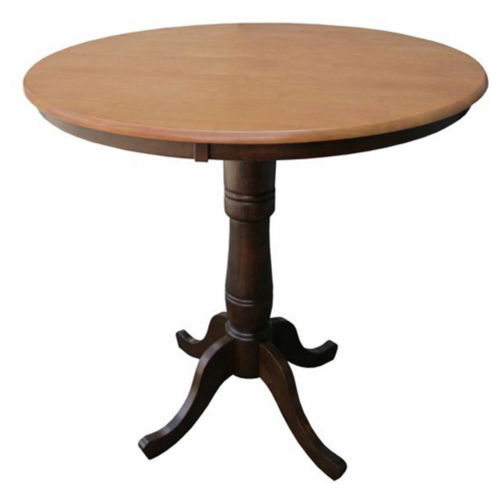 International Concepts Piperton 36 in. Round Top Pedestal Counter Height Dining Table