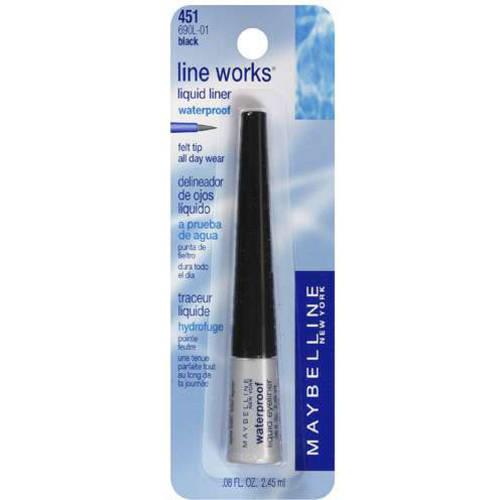 L'oreal Sa Maybelline Line Works Liquid Eyeliner, Black 451