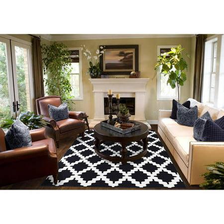 Trellis stitch polypropylene area rug for 5x7 room design
