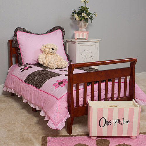 Pam Grace Creations Pam's Petals 4-Piece Toddler Bedding Set