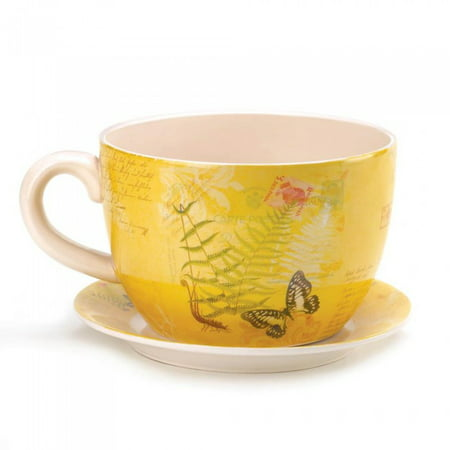 Teacup Planter (LARGE GARDEN BUTTERFLY TEACUP)