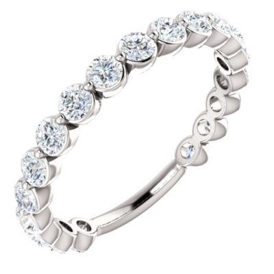 Platinum Diamond 2.5mm Polished 1.17 Dwt Diamond Anniversary Band Ring -- Size 6.5 Diamond Ring : Platinum Diamond Band
