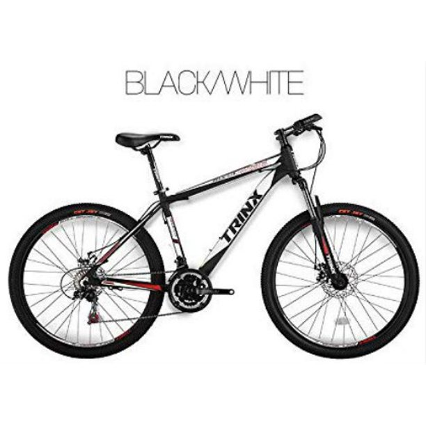 Trinx MTB Mens Mountain Bike 26 inch 21-Speed M136 Black White