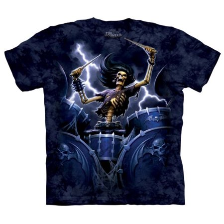 The Mountain Blue 100% Cotton Death Drummer Graphic Novelty T-Shirt