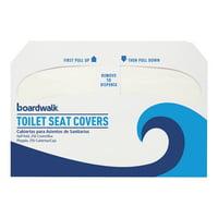 Boardwalk Premium Half-Fold Toilet Seat Covers, 250 Covers/Sleeve, 4 Sleeves/Carton