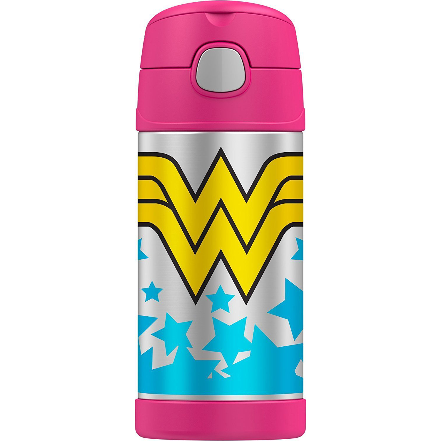 Thermos FUNtainer 12-ounce Vacuum Insulated Stainless Steel Bottle (Wonder Woman)