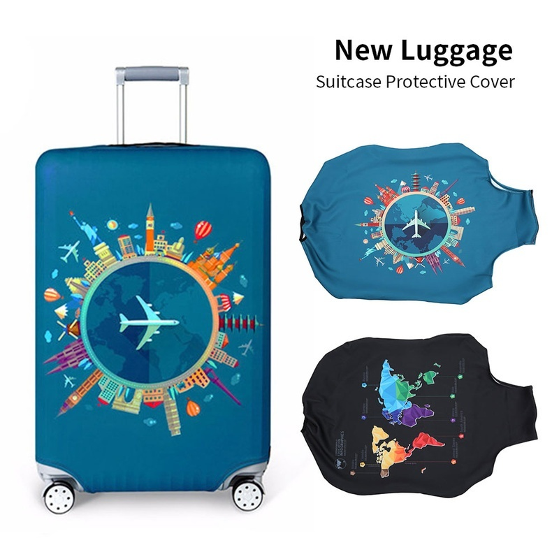 Luggage Cover Cat With Popcorn And Drink Watching Movie Protective Travel Trunk Case Elastic Luggage Suitcase Protector Cover
