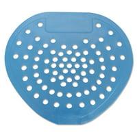 "HOSPECO Health Gards Vinyl Urinal Screen, 7 3/4""w x 6 7/8""h, Blue, Mint, Dozen"
