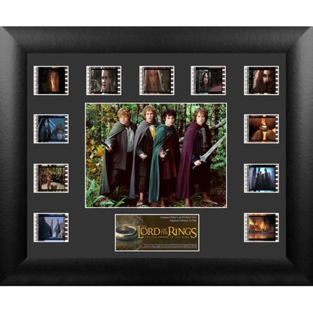 Trend Setters Lord of the Rings: Fellowship of the Ring Mini Montage Film Cell Presentation Framed Vintage Advertisement