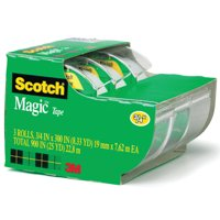 "3M #3105 Scotch Magic Tape 3-Pack, 3/4"" 300"", 3/Pkg."