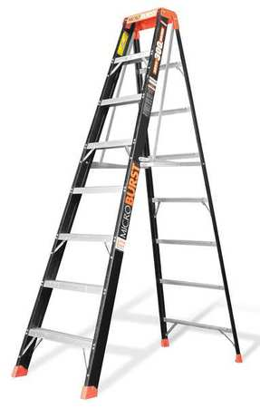 Little Giant MicroBurst, Model 8', Type IA 300 lbs rated, fiberglass stepladder by Wing Enterprises, Inc.