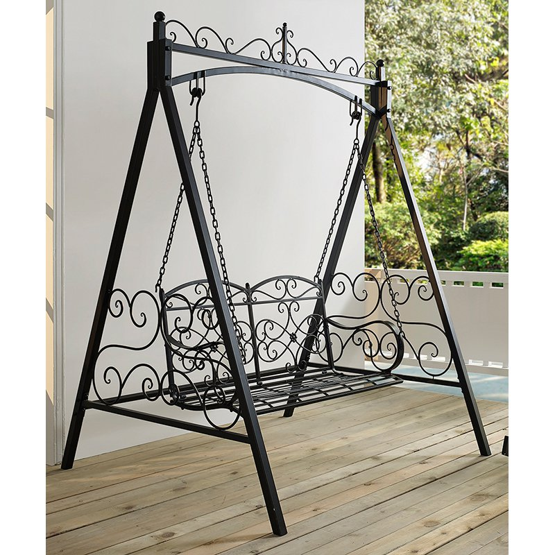 Coral Coast Ridgecrest 4 Ft Metal Outdoor Porch Swing And