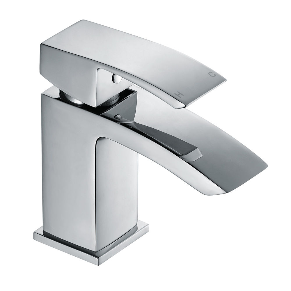 Bathroom Basin Faucet Stainless Steel Kitchen Sink Single Cold Water Tap Hole